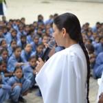 BK Hemlata and BK Kiran addressing the Students