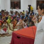 BK Asha addressing audience