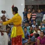 Sudama and Sri Krishna in a stage Play