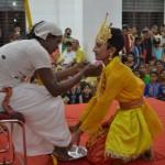 Sri Krishna revering his dear friend Sudama