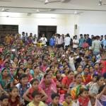 The audience at Brahmakumaris Madanpur Khadar Janmashtmi celebrations