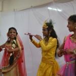Sri Krishna with Radha and gopis
