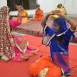 Child artists portraying Krishna bhakti through a dance performance
