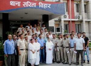 At Searita Vihar Police Station Delhi