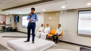 Bk Saurabh taking session on Stress Free Living